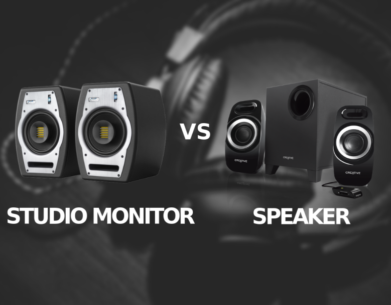 STUDIO MONITORS VS SPEAKERS