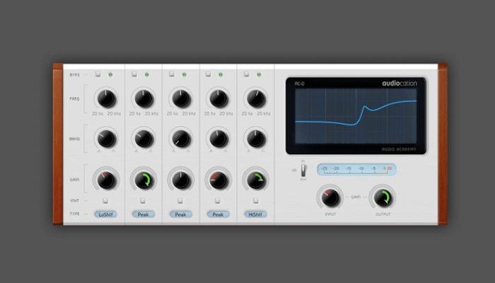 Audiocation free equalizer plugin