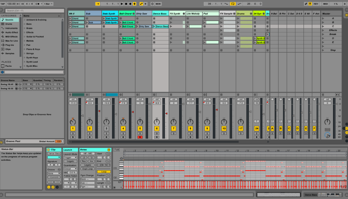 ableton live user interface