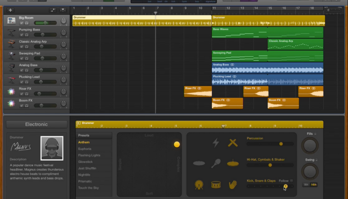 garageband daw software
