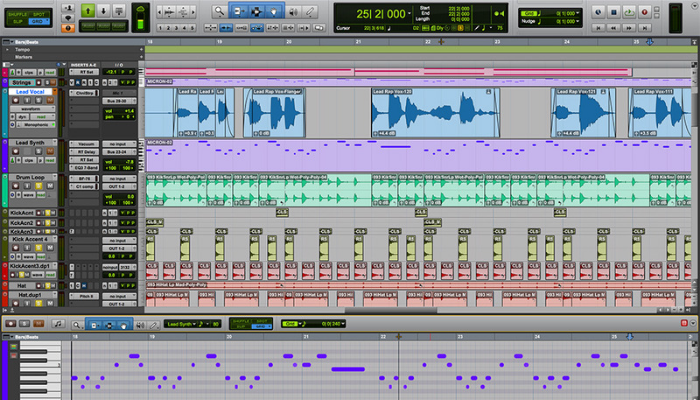 avid pro tools user interface