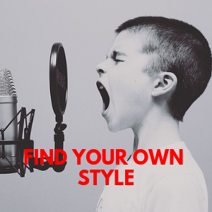 find your own singing style