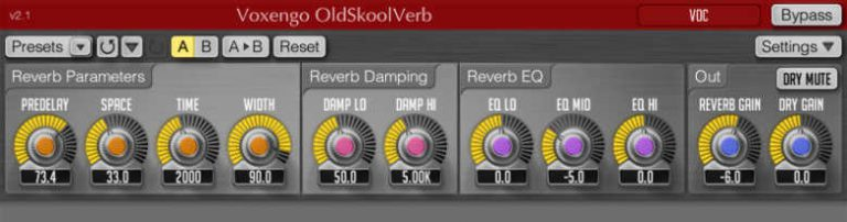 OldSkoolVerb vst plugin