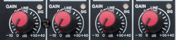 gain channel strip mixing console
