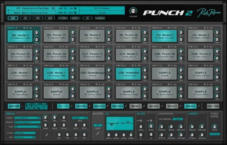 RobPapen-punch 2 vst drum sampler