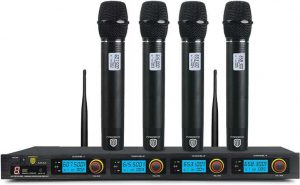 Proreck MX44 4-Channel UHF Wireless Microphone System