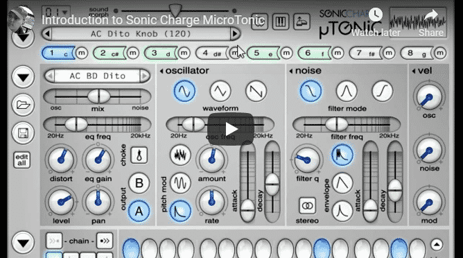 sonic charge microtonic example
