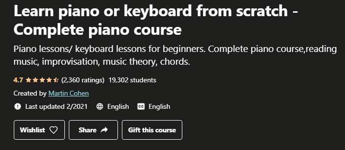 Learn to play the piano or keyboard from scratch