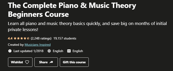 The Complete Piano and Music Theory Beginners Course