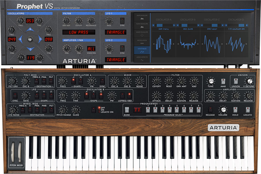 Prophet-v-software DAW synth