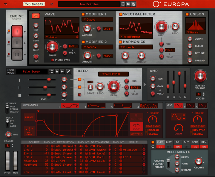 europa software synthesizer
