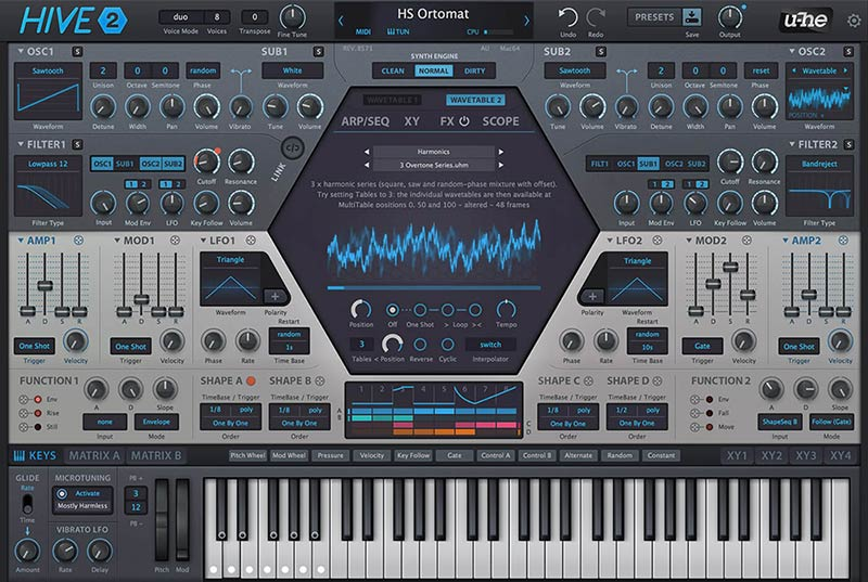 uhe hive software synth plugin
