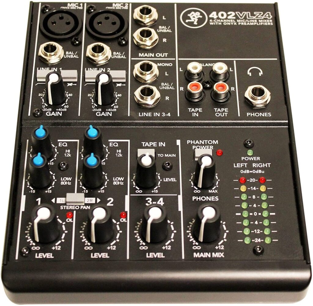 Mackie 402VLZ4 mixer for live performance