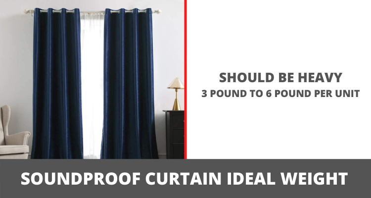 Soundproof Curtain ideal weight