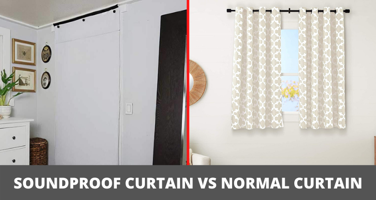 Soundproof Curtain vs normal curtain