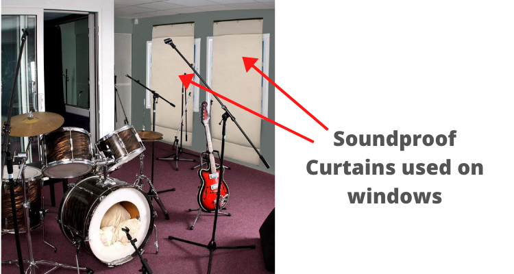Soundproof Curtains used on windows