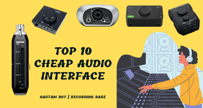 Top 10 Cheap Audio Interface Under $100 in 2021
